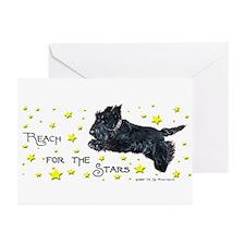 Scottish Terrier Star Greeting Cards (Pk of 10