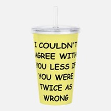WRONG.png Acrylic Double-wall Tumbler