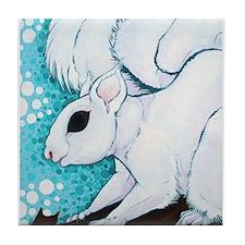 White Squirrel Tile Coaster