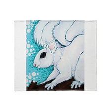 White Squirrel Throw Blanket