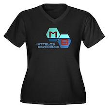 Mittelos Bioscience Women's Plus Size V-Neck Dark