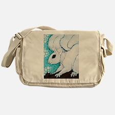 White Squirrel Messenger Bag