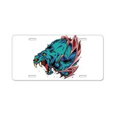 Saber Toothed Blue Cat Aluminum License Plate