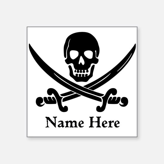 Custom Pirate Design Sticker