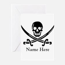 Custom Pirate Design Greeting Cards