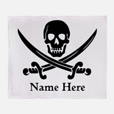 Custom Pirate Design Throw Blanket