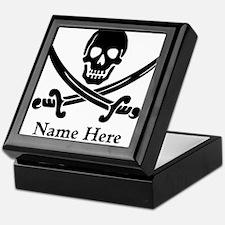 Custom Pirate Design Keepsake Box
