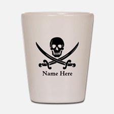 Custom Pirate Design Shot Glass