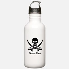 Custom Pirate Design Water Bottle