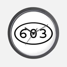 603 Oval Wall Clock