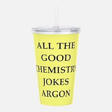 CHEMISTRY joke Acrylic Double-wall Tumbler