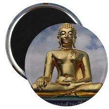 Golden Triangle Buddha Magnet