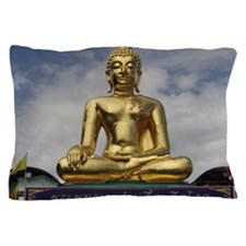 Golden Triangle Buddha Pillow Case