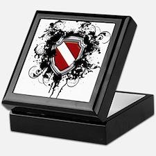 SCUBA Shield (Grunge) Keepsake Box