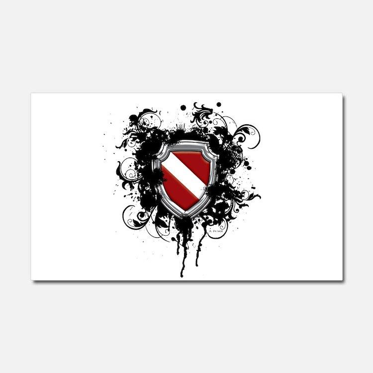 SCUBA Shield (Grunge) Car Magnet 20 x 12