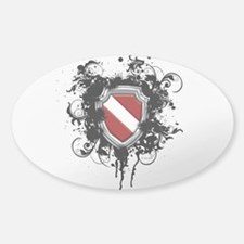SCUBA Shield (Grunge) Sticker (Oval)