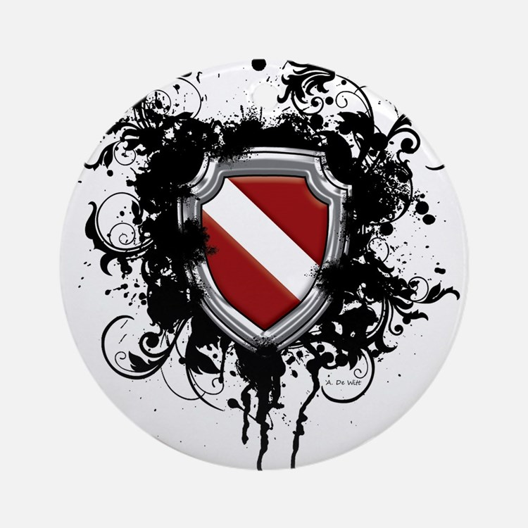 SCUBA Shield (Grunge) Ornament (Round)