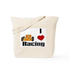 I Love Racing Tote Bag