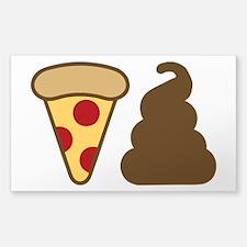 Pizza Poop Decal