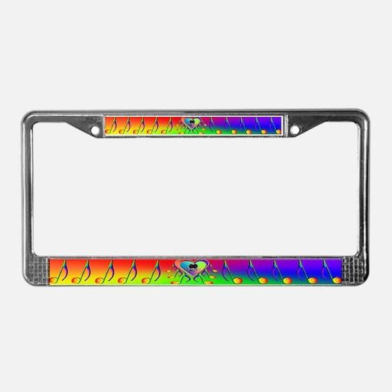 GLBT / LGBT I Love Music License Plate Frame