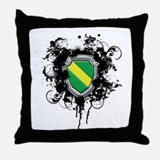 Nitrox Dive Shield (Grunge) Throw Pillow