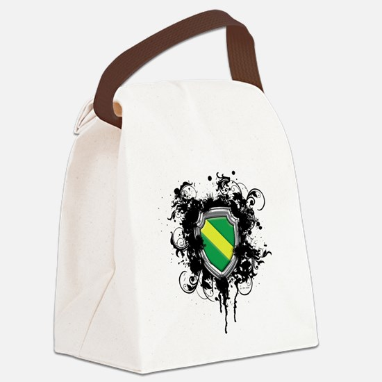 Nitrox Dive Shield (Grunge) Canvas Lunch Bag