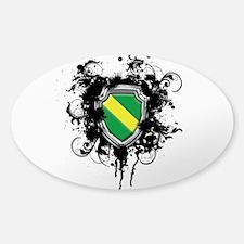 Nitrox Dive Shield (Grunge) Sticker (Oval)