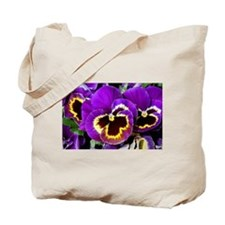 Funny Purple flowers Tote Bag