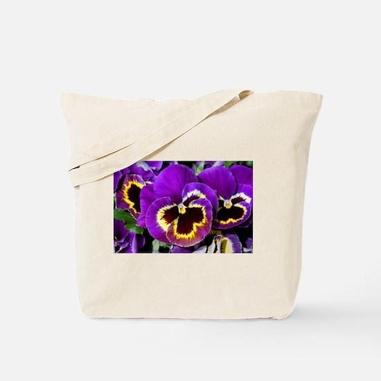Cute Pansies Tote Bag