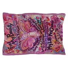 Pink Cancer Angel Pillow Case