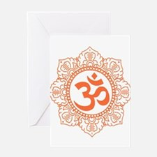 OM Flower Greeting Cards