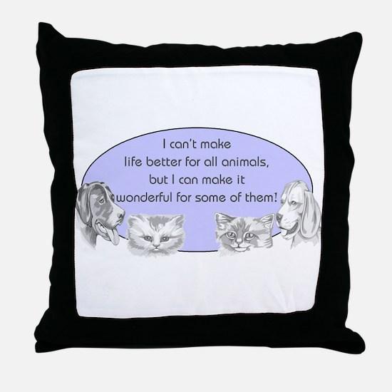 Better Pet Life Throw Pillow