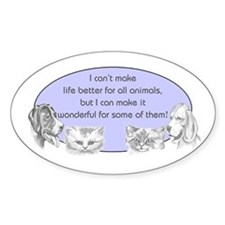 Better Pet Life Oval Decal