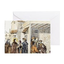 St Dominic & the Albigenses (Cathars Greeting Card
