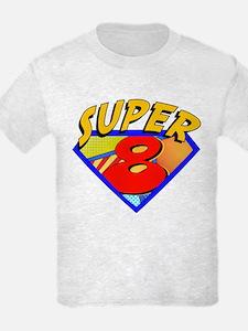 Superhero 8 Birthday T-Shirt
