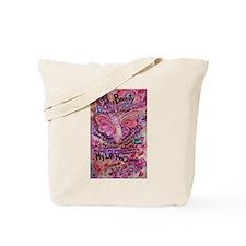Pink Cancer Angel Tote Bag
