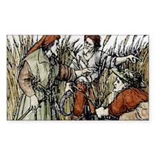 Ruth in cornfield seen by Boaz Decal