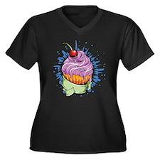 Cherry Cupcake Plus Size T-Shirt