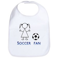 Soccer fan girl Bib