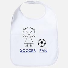 Soccer fan girl Bib