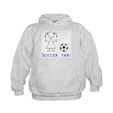 Soccer fan girl Hoodie