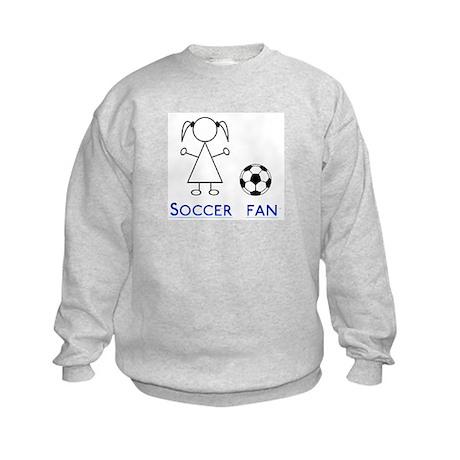Soccer fan girl Kids Sweatshirt
