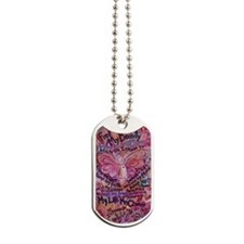 Pink Cancer Angel Dog Tags