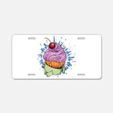 Cherry Cupcake Aluminum License Plate