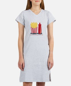 Ketchup To My Fries Women's Nightshirt