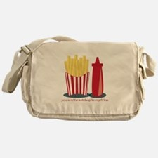 Ketchup To My Fries Messenger Bag