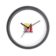 Ketchup To My Fries Wall Clock