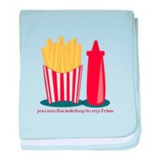 Ketchup To My Fries baby blanket
