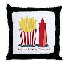 Best Friends Forever Throw Pillow
