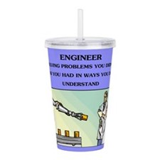 emgineer engineering joke gifts t-shirts Acrylic D